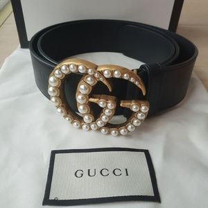 Authentic Gucci Pearl Belt